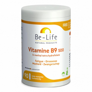 Vitamines B9 500 90 gélules - Be-Life