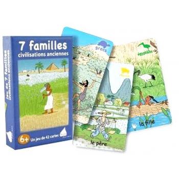 7 familles civilisations anciennes jeu cartes