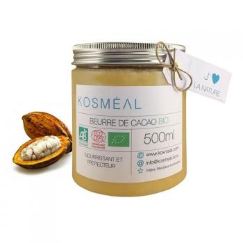 Beurre de Cacao BIO – Certifié Agriculture Biologique (AB) et ECOCERT - 500ml