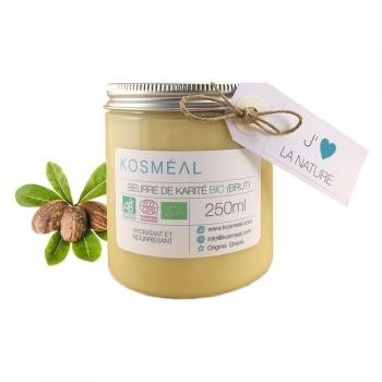 Beurre de Karité BIO Brut - Certifié Agriculture Biologique (AB) et ECOCERT - 250ml