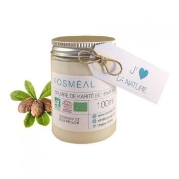 Beurre de Karité BIO Raffiné - Certifié Agriculture Biologique (AB) et ECOCERT - 100ml