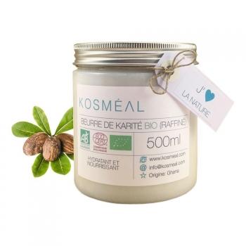 Beurre de Karité BIO Raffiné - Certifié Agriculture Biologique (AB) et ECOCERT - 500ml