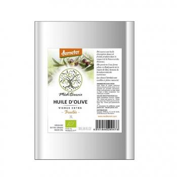 Huile d'olive bio demeter Mediterroir 5L