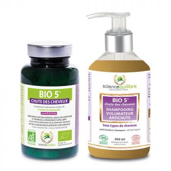 BIO 5 chute des cheveux : comprimés (x1) + shampooing (x1)