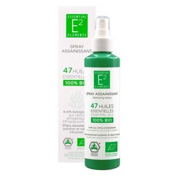 BIO Spray Assainissant aux 47 Huiles Essentielles 100% BIO (vegan) GRAND FORMAT 200ml - bactéricide, contre les odeurs tenaces...