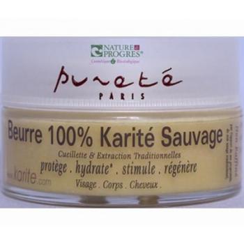 Beurre 100% Karité Sauvage 100 Ml