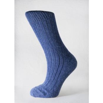 Chaussettes en Mohair Bleu Denim