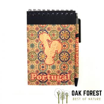 Bloc-Notes & stylo en liège naturel et papier recyclé - Coq