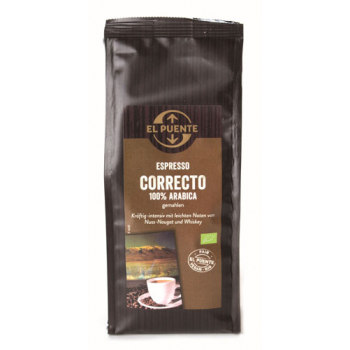 Espresso correcto, moulu