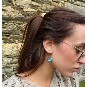 Boucles d'oreilles Epure argent et nacre. Pour Noël offrez de la Lumière