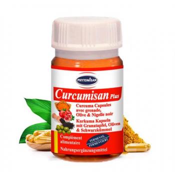 Curcuma: Curcumisan Plus, Curcuma Fermenté avec Grenade, Olive & Cumin/Nigelle Noire