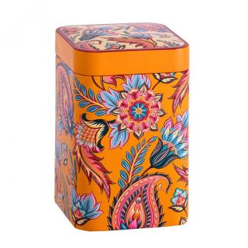 """Boîte à thé """"Fleurs de feu"""" orange 100g"""