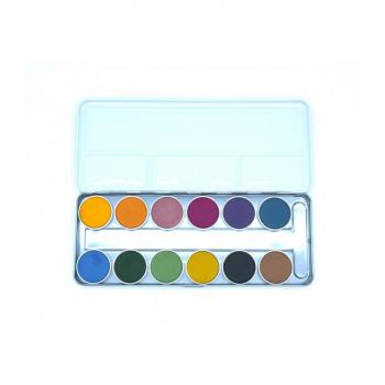 Boîte de peinture à l'eau : Aquarelle de 12 couleurs végétales