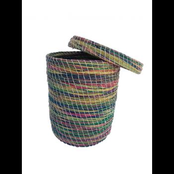 Boite de rangement en fibre végétale (halfa)