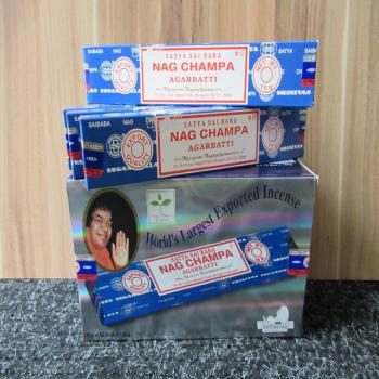 """12 paquets de 15 sticks d'encens """"Nag Champa"""""""