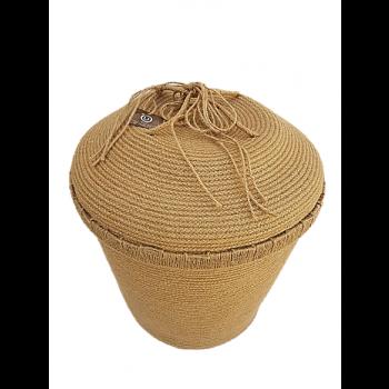 Panier de rangement en fibre végétale (halfa)