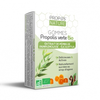 Gommes Propolis verte BIO, EPP et Eucalyptus