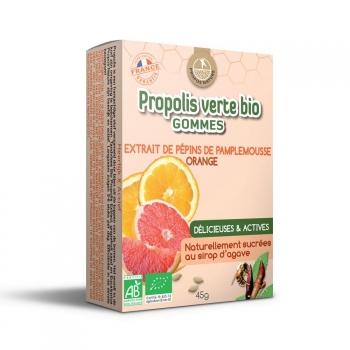 Gommes Propolis verte BIO, EPP et Orange (certifiées AB) - 45 g