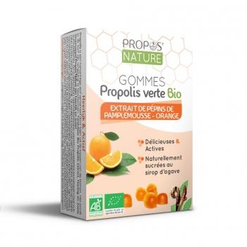 Gommes Propolis verte BIO, EPP et Orange