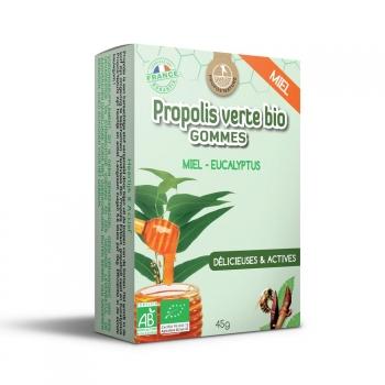 Gommes Propolis Verte BIO, Miel et Eucalyptus (certifiées AB) - 45g