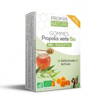 Gommes Propolis Verte BIO, Miel et Eucalyptus