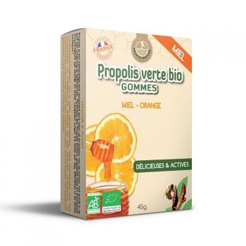 Gommes Propolis Verte BIO, Miel et Orange (certifiées AB) - 45g