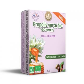 Gommes Propolis Verte BIO, Miel et Réglisse (certifiées AB) - 45g