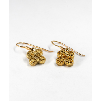 Boucles d'oreilles plaqué or dormeuse symbole de la chance