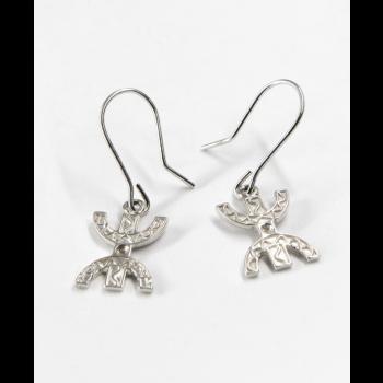 Boucles d'oreilles argent massif symbole de la liberté et de l'encrage