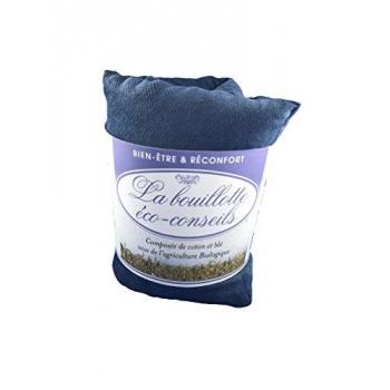 Eco-conseils® - Bouillotte micro-ondes en velours - 100% naturel - Utilisation polyvalente (Bleu pétrole)