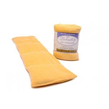 Eco-conseils® - Bouillotte micro-ondes en velours - 100% naturel - Utilisation polyvalente (Orange)