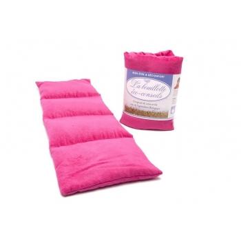 Eco-conseils® - Bouillotte micro-ondes en velours - 100% naturel - Utilisation polyvalente fushia