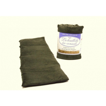 Eco-conseils® - Bouillotte micro-ondes en velours - 100% naturel - Utilisation polyvalente (Vert)