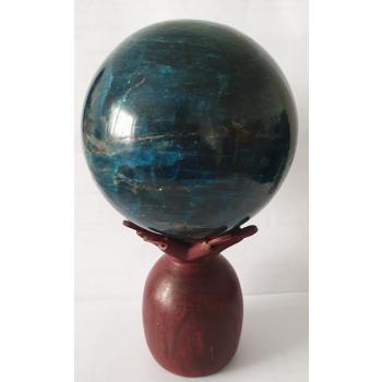 APATITE BLEUE (Boule 75mm) de Madagascar