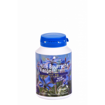 huile de bourrache bio naturo concept