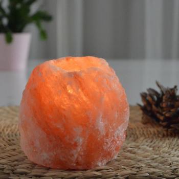 Bougeoir en Cristal de Sel Himalaya 500g