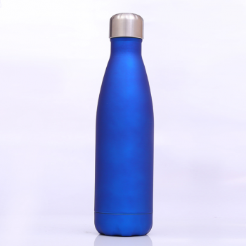 Bouteille isotherme bleue en inox (500ml)
