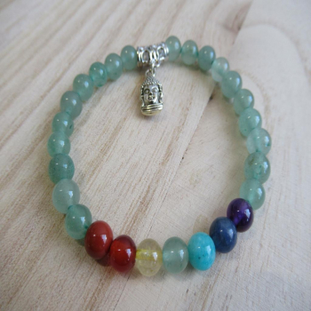 Bracelet en aventurine 7 chakras