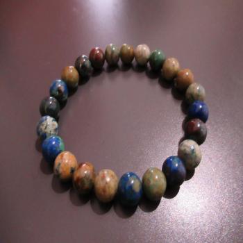 Bracelet en azurite et malachite