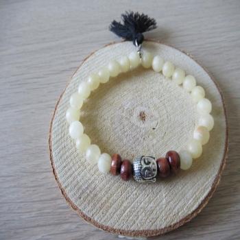 Bracelet en pierre de Cacite orange dépolie