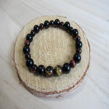 Bracelet onyx noir oeil de taureau