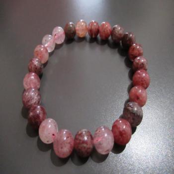Bracelet en quartz hematoide