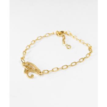 Bracelet oeil d'Horus en plaqué or