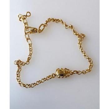 Bracelet chaîne scarabée équilibre plaqué or