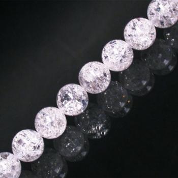 Bracelet en cristal de roche craquelé 6mm