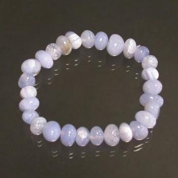 Bracelet en Agate Blue Lace