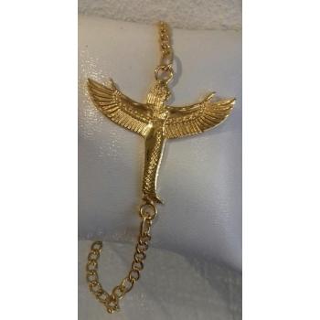 Bracelet chaîne Déesse Isis plaqué or