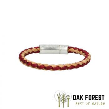 Bracelet en liège Torsadé Bordeaux-Naturel