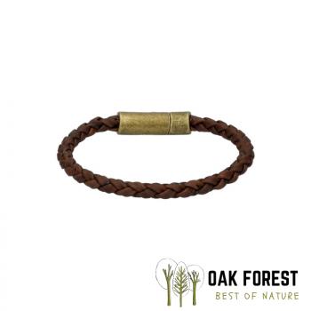 Bracelet en liège Torsadé marron cuivré