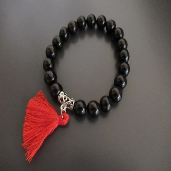 Bracelet bois méditation 21 perles N1